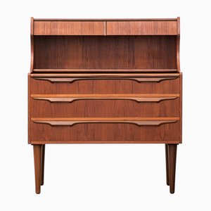 Mid-Century Danish Teak Secretaire by Klaus Okholm for Trekanten, 1960s