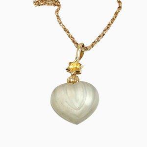 Chaîne victorienne antique avec collier pendentif contemporain