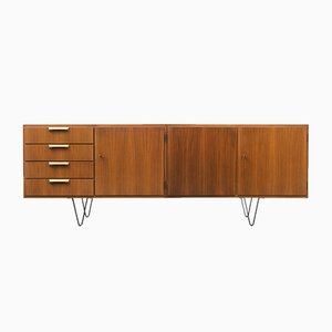 Vintage Walnut Sideboard with Loop Feet, 1960s