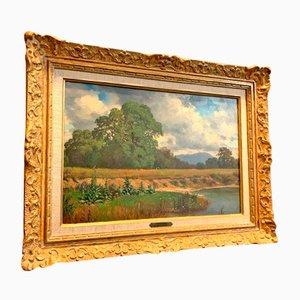Pintura de paisaje del siglo XIX de Jean-Philippe George-Julliard