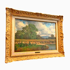Pittura paesaggistica di Jean-Philippe George-Julliard, XIX secolo