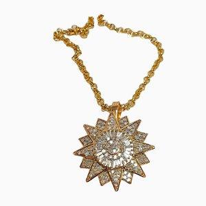 Lámpara colgante en forma de estrella con diamantes, años 80