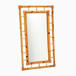 Vintage Bamboo Mirror, 1970s