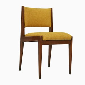 Mid-Century Yellow Chairs by Gianfranco Frattini for Ghianda, 1960s, Set of 4