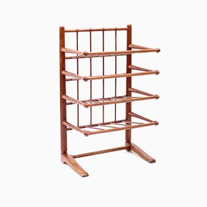 Mid-Century Mahogany Magazine Rack Attributed to Josef Frank for Svenskt Tenn, 1950s