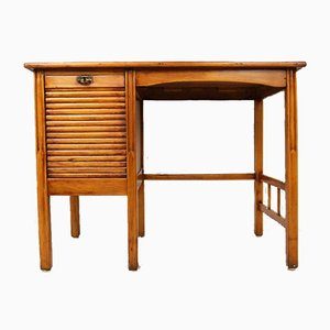 Small Art Nouveau German Desk with Roller Shutter, 1920s