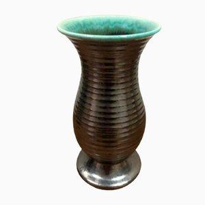 Vase in Schwarz & Grün von Saint Clément, 1950er