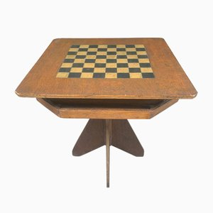 Hand Made and Hand Painted Folk Art Game Table, 1920s