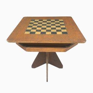 Table de Jeu Folk Artisanale Peinte à la Main et Peinte à la Main, 1920s
