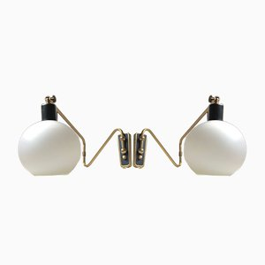 Danish Modern Brass Swing Arm Sconces from Laoni, 1960s, Set of 2
