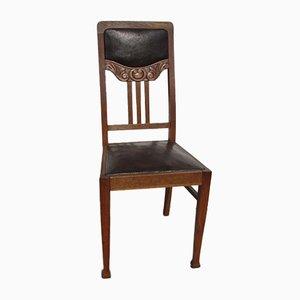 Chaises de Salle à Manger Antique Art Nouveau Style de Majorelle, Set de 6