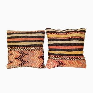 Turkish Kilim Cushion Covers, Set of 2