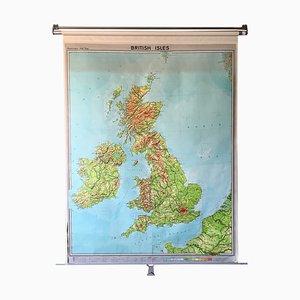 Mapa escolar británico vintage de Georg Westermann, 1963