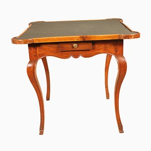 18th Century Louis XV Blond Walnut Game Table