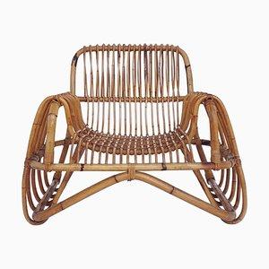 Italian Bamboo Armchair, 1950s