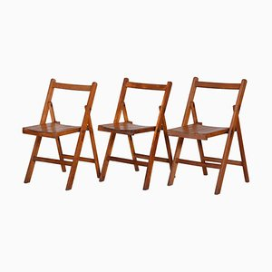 Mid-Century Beech Chairs, 1950s, Set of 3
