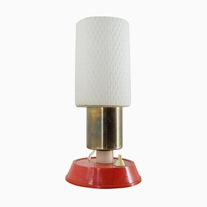 Mid-Century Brass and Glass Table Lamp, Poland, 1970s