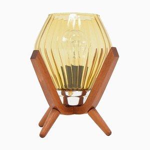 Lampada da comodino Mid-Century in legno, anni '60
