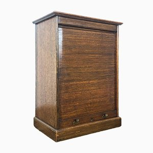 Small Vintage Roller Shutter Cabinet
