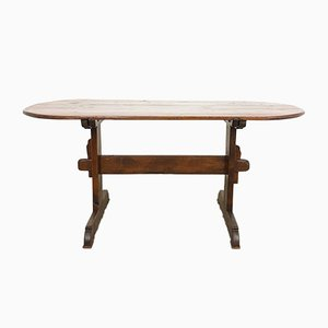 19th Century Swedish Oval Farmhouse Table