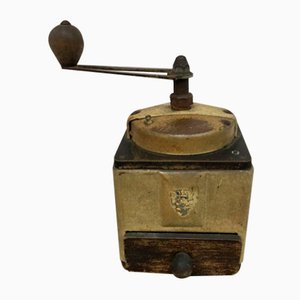 Vintage French Wooden Coffee Grinder from Peugeot
