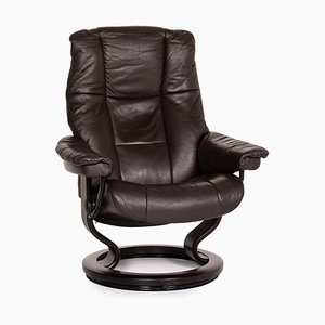 Dark Brown Leather Mayfair Armchair from Stressless