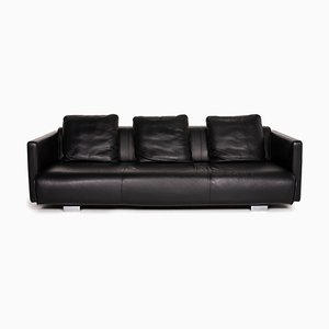 Black Leather 6300 3-Seat Sofa from Rolf Benz