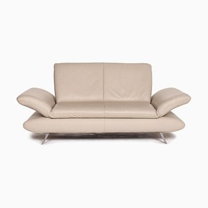 Beige Taupe Leather Rossini 2-Seat Sofa from Koinor