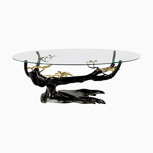 Brass Coffee Table in the Style of Willy Daro, Belgium, 1970s