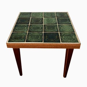 Mid-Century Tiled Flower Stool Side Table