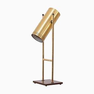 Lampe de Bureau Trombone en Laiton par Jo Hammerborg pour Fog & Mørup, Danemark, 1960s