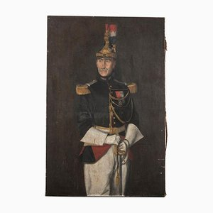 French Military Man Painting