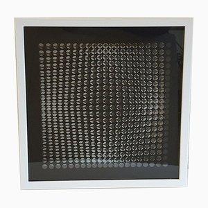 Kinetics D Siebdruck von Victor Vasarely, 1973