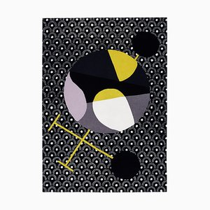 Abstract Dadaist Contemporary Inspired Rug by Sophie Taeuber Arp