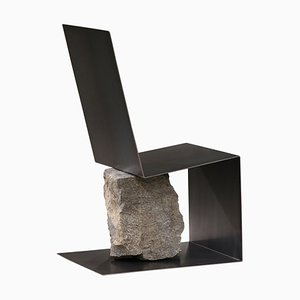 Steel and Stone Chair by Batten and Kamp