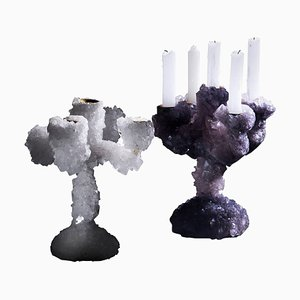 Candelabros Overgrown de cristal de Mark Sturkenboom. Juego de 2