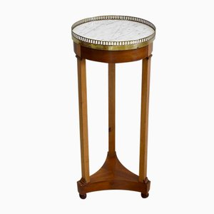 Small 19th Century Directoire Solid Mahogany Side Table