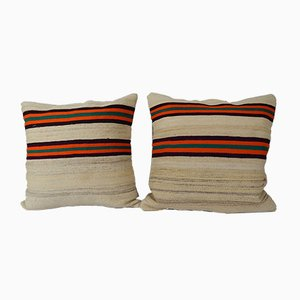 Hemp Kilim Cushion Covers, Set of 2