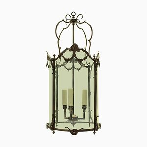 Antique French Bronze Hanging Lantern