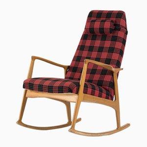 Sedia a dondolo in legno curvato di ULUV Praha, anni '60