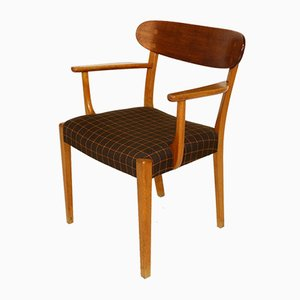 Danish Teak and Oak Dining Chairs, 1960s, Set of 4