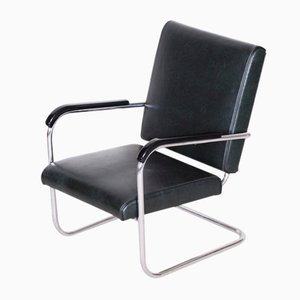 Bauhaus Tubular Chrome-Plated Steel Armchair from SAB, 1930s