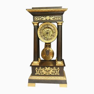 Large Antique Empire Bronze Clock