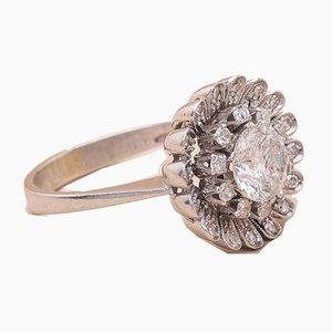 Marguerite Ring mit Diamanten, 1960er