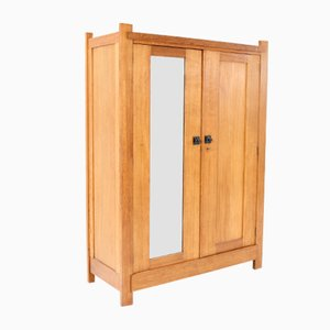 Art Deco Oak Dutch Wardrobe by H. Wouda for H. Pander & Zn., 1920s