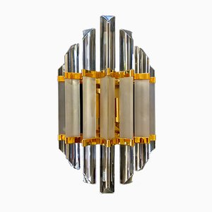 Gold Frosted Glass Sconce from Venini, 1980s