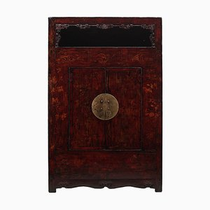Großer Antiker Chinese Shanxi Painted Armoire
