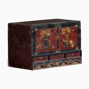 Antike Chinesische Bemalte Qinghai Überseekiste