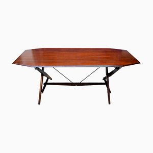 Italian Rosewood Model TL2 Cavalletto Dining Table by Franco Albini for Poggi, 1950s