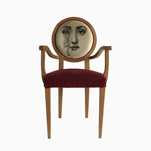 Armchair Attributed to Pietro Fornasetti, 1970s